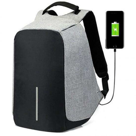 Mochila Anti-roubo com Cabo USB