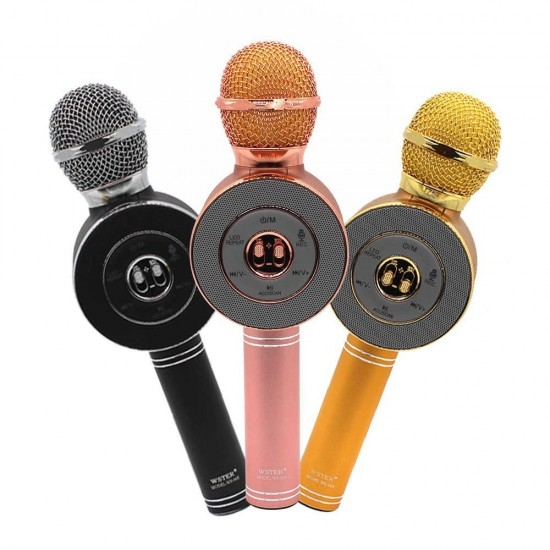 Microfone Bluetooth com Coluna