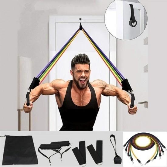 Kit Elásticos de Musculação (11pcs)