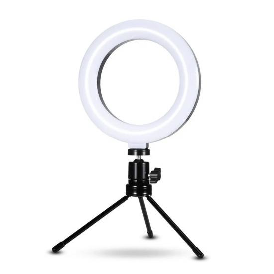Ring Light com Anel 26 cm e Tripé 14 cm