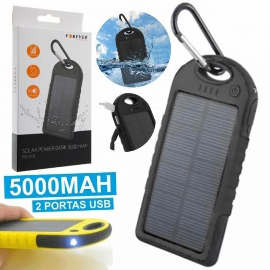Powerbank Solar 5000mA e Luz LED